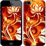 """Чехол на iPhone 5s Огненная роза """"112c-21-15248"""""""