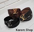 Ремни кожаные люксовая реплика Louis Vuitton, фото 3