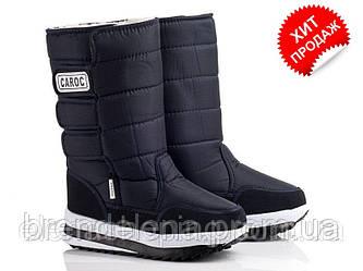 Підліткові чорні чоботи «CAROC» (р41) 3-липучки. 41