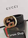 Ремни кожаные люксовые реплики  Gucci (унисекс), фото 2