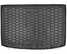 Пластиковый коврик в багажник Mercedes A-Class (W169) 2004-2012 (AVTO-GUMM)