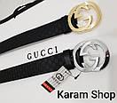 Ремни кожаные люксовые реплики  Gucci (унисекс), фото 6