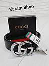 Ремни кожаные люксовые реплики  Gucci (унисекс), фото 7