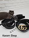 Ремни кожаные люксовые реплики  Gucci (унисекс), фото 8