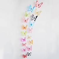 Объемные 3D бабочки наклейки декоративные, микс