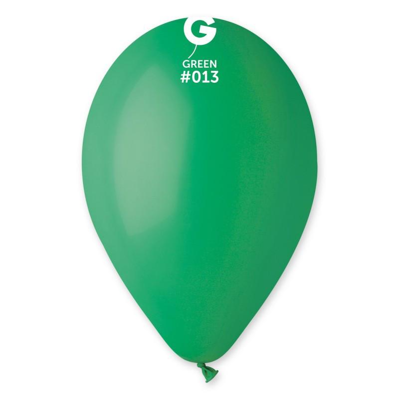 Повітряні кульки зелені пастель 26 см Gemar Італія 5 шт