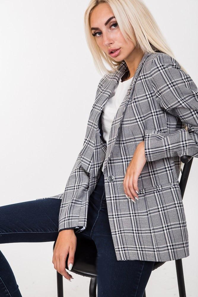 f64043c1fca4a05 Модный клетчатый женский пиджак темно-синего цвета: продажа, цена в ...