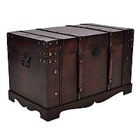 Вінтажна дерев'яна скриня, ящик, фото 1
