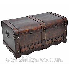 Велика дерев'яна яна скриня, ящик. РЕТРО
