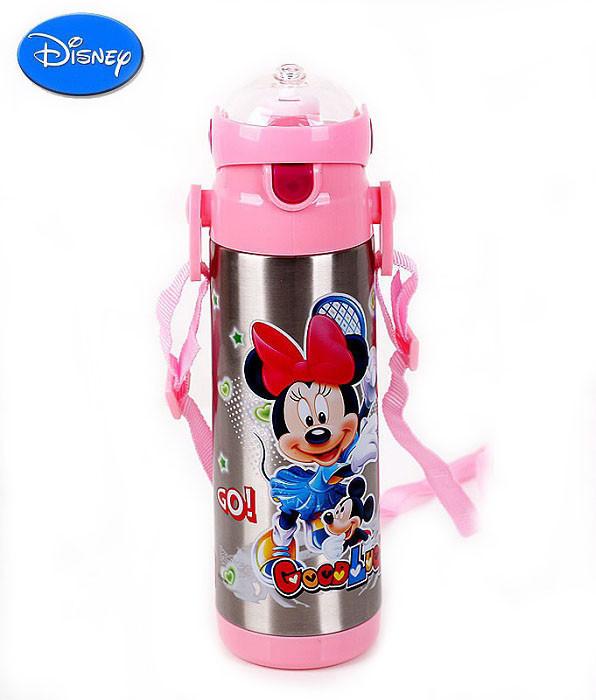 Детский Вакуумный Термос с Трубочкой Поилкой ZK G 604 Pink Disney Дисней 500 мл
