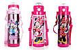 Детский Вакуумный Термос с Трубочкой Поилкой ZK G 604 Pink Disney Дисней 500 мл, фото 2