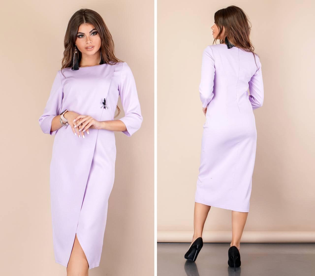 Платье на запах ( арт. 131 ), ткань креп, цвет сирень
