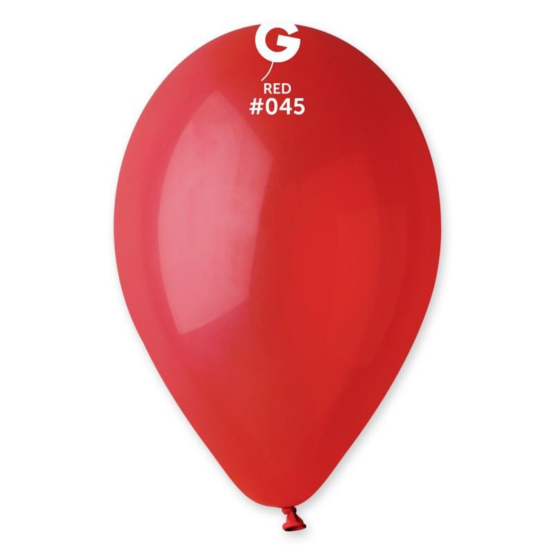 Шарик пастель 25 см  (красный) Gemar( Италия ) 5 шт