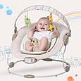 Детский Шезлонг Качалка Joymaker Музыкальное Кресло для Малыша, фото 2