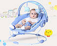 Детский Шезлонг Качалка Joymaker Музыкальное Кресло для Малыша, фото 3