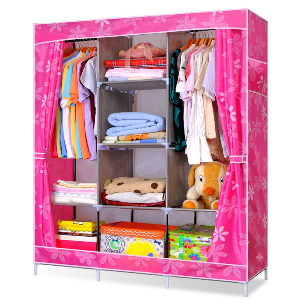 Портативный Тканевый Шкаф Органайзер Storage Wardrobe YQF130-14A 3 Секции