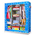 Портативный Тканевый Шкаф Органайзер Storage Wardrobe YQF130-14A 3 Секции, фото 2