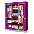Портативный Тканевый Шкаф Органайзер Storage Wardrobe YQF130-14A 3 Секции, фото 3