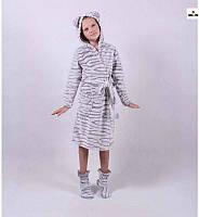 "Детский халат махровый на запах ""Ушки"" р.32-42, фото 1"