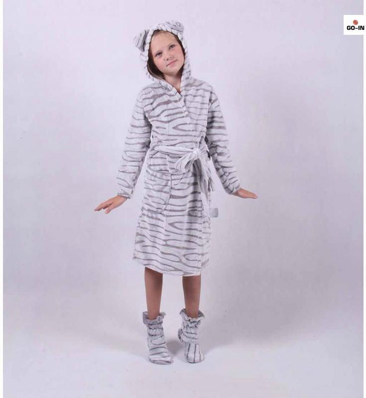 "Детский халат на запах ""Ушки"" р.32-42 34"