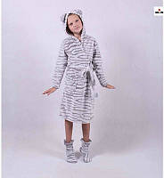 "Дитячий халат на запах ""Вушка"" р. 32-42 34, фото 1"