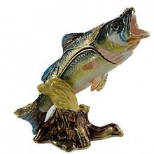 Шкатулка для ювелирных украшений со стразами Рыбка