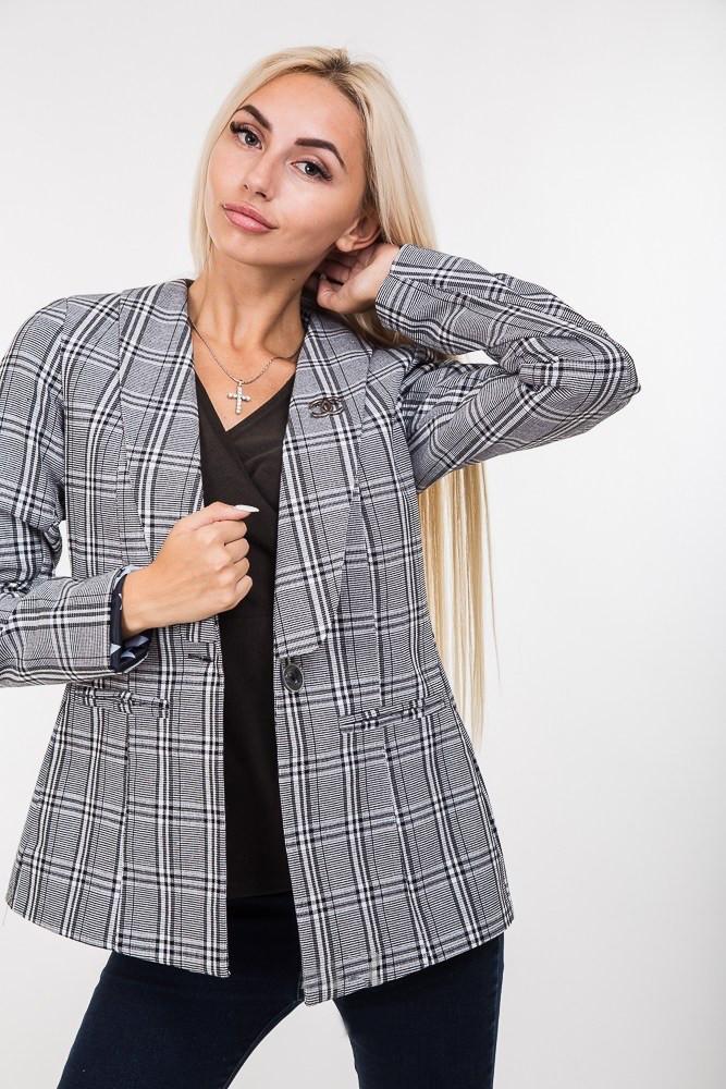 74ad8638cac315a Стильный женский пиджак с брошью