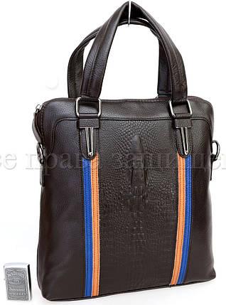 Мужская кожаная сумка через плечо коричневый  (Формат: А5) SK Leather Collection SK712-brown, фото 2