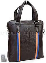Мужская кожаная сумка коричневый  (Формат: А5) SK Leather Collection SK712-brown