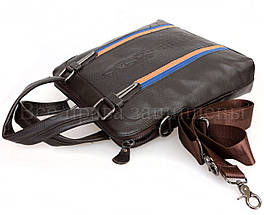 Мужская кожаная сумка через плечо коричневый  (Формат: А5) SK Leather Collection SK712-brown, фото 3