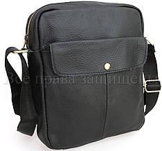 Мужская кожаная сумка черный  (Формат: А5) SK Leather Collection SKnx9-black