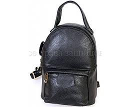 Женский кожаный рюкзак черный  (Формат: больше А5) SK Leather Collection SKMBP-01-Black, фото 2