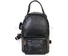 Женский кожаный рюкзак черный  (Формат: больше А5) SK Leather Collection SKMBP-01-Black, фото 3