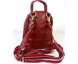 Женский кожаный рюкзак красный  (Формат: больше А5) SK Leather Collection SKMBP-01-Red, фото 2