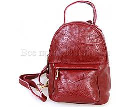 Женский кожаный рюкзак красный  (Формат: больше А5) SK Leather Collection SKMBP-01-Red, фото 3