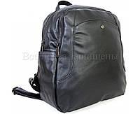 2d5c12478841 Женский кожаный рюкзак черный (Формат: А4 и больше) SK Leather Collection  SKMBP-