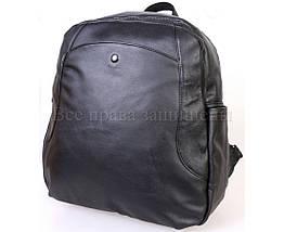 Женский кожаный рюкзак черный  (Формат: А4 и больше) SK Leather Collection SKMBP-02-Black, фото 3