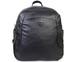 Женский кожаный рюкзак черный  (Формат: А4 и больше) SK Leather Collection SKMBP-02-Black, фото 2