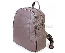 Женский кожаный рюкзак серый  (Формат: А4 и больше) SK Leather Collection SKMBP-02-Gray, фото 2