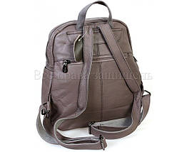 Женский кожаный рюкзак серый  (Формат: А4 и больше) SK Leather Collection SKMBP-02-Gray, фото 3