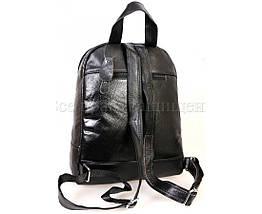 Женский кожаный рюкзак черный  (Формат: А4 и больше) SK Leather Collection SKMBP-03-Black, фото 2