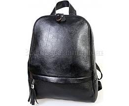 Женский кожаный рюкзак черный  (Формат: А4 и больше) SK Leather Collection SKMBP-03-Black, фото 3