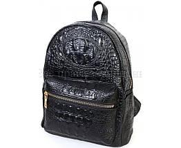 Женский кожаный рюкзак черный  (Формат: больше А5) SK Leather Collection SKMBP-06-Black, фото 2