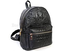 Женский кожаный рюкзак черный  (Формат: больше А5) SK Leather Collection SKMBP-06-Black, фото 3