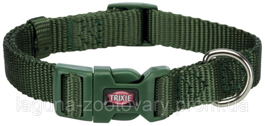 ТХ-201419 Ошейник Premium нейлон, S–M  30–45см/15мм, оливковый, для собак