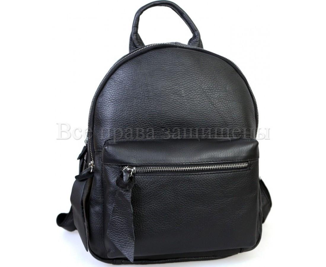 Женский кожаный рюкзак черный  (Формат: А4 и больше) SK Leather Collection SKMBP-04-Black