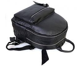 Жіночий шкіряний рюкзак чорний (Формат: А4 і більше) SK Leather Collection SKMBP-04-Black, фото 2