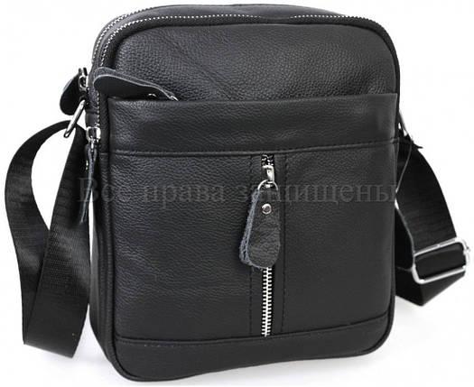 917935232ec5 Мужская кожаная сумка черный (Формат: больше А5) SK Leather Collection  SKMB-1201