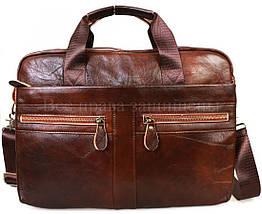 Мужская кожаная сумка коричневый  (Формат: А4 и больше) SK Leather Collection SKMB-9023-brown, фото 3