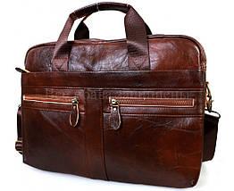 Мужская кожаная сумка коричневый  (Формат: А4 и больше) SK Leather Collection SKMB-9023-brown, фото 2